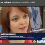 Maïte Bulles de Mode France 3 19-20 juillet 2012
