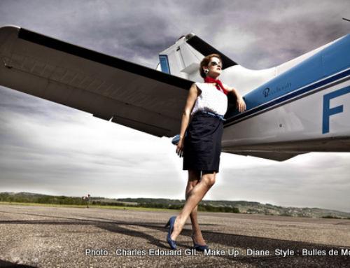 Nouvel Edito Mode ! Air Force & Beauty : Hôtesse et Aventurière. Photo Charles-Edouard Gil