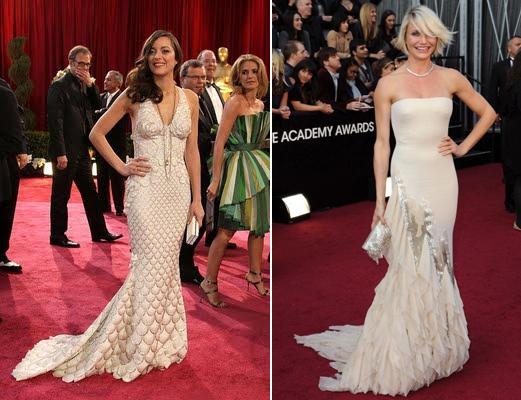Marion Cotillard Jean Paul Gaultier & Cameron Diaz Oscars Sirène
