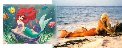 Tendance Sirènes de la mode Eté 2012 - Ariel Disney, Daryl Hannah