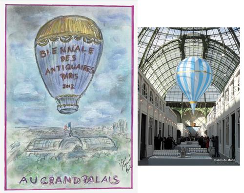 Ballon Karl Lagerfeld 26ème Biennale des Antiquaires 2012