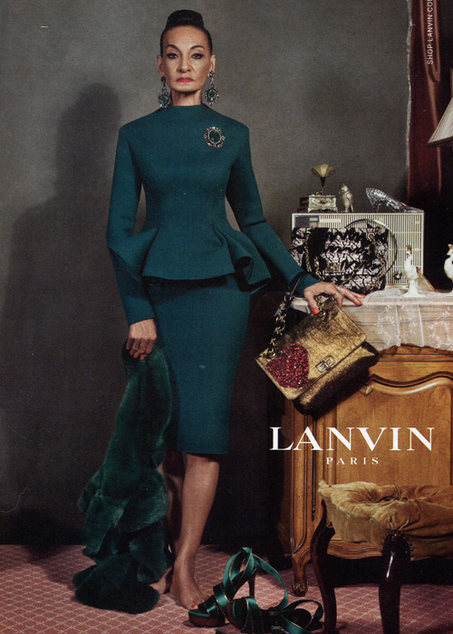 Lanvin Parure baroque vert or automne 2012