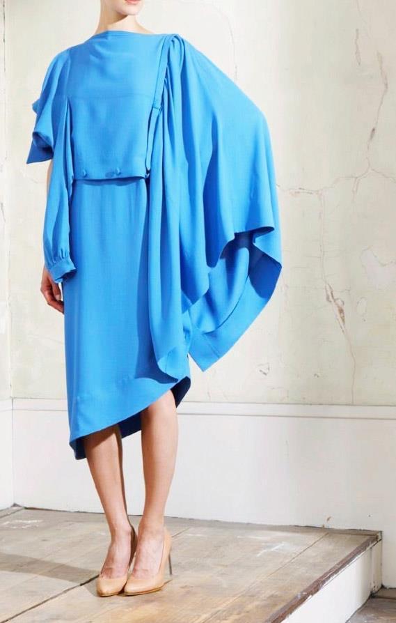 Martin Margiela H&M robe déstructurée bleue