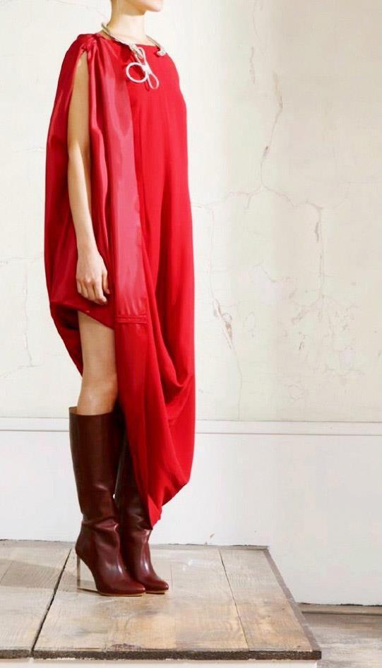 Martin Margiela H&M robe déstructurée rouge