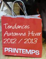 Printemps Tendances Automne Hiver 2012 2013