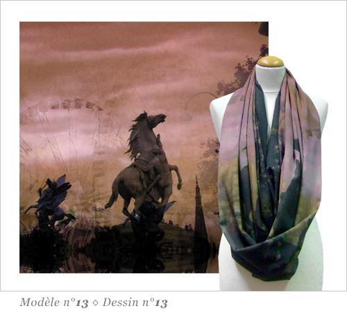 Snood Foulard Imprimé Paname N13