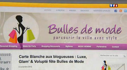 Bulles de Mode JT 20h Claire Chazal TF1