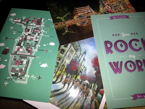 Cartes postales 2012 Guide Shopping My Presqu'île Collector