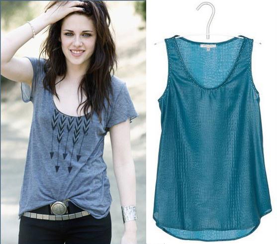 Comment porter le T-Shirt loose comme Kristen Stewart
