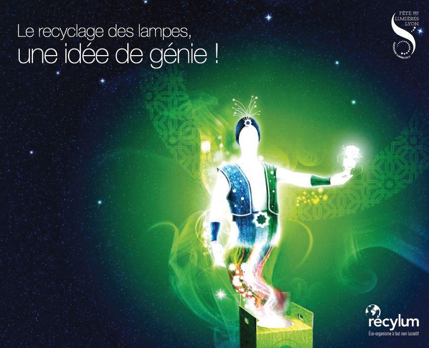 Concours Fête des Lumières Lyon Instagram 2012 Génie des Lampes Récyclum
