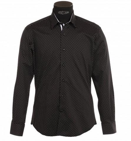 Chemise à pois noir et blanc