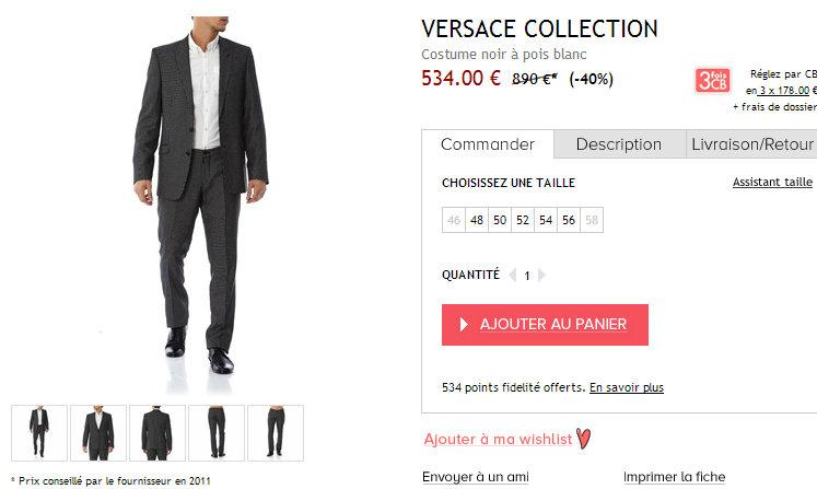 Costume à pois Versace