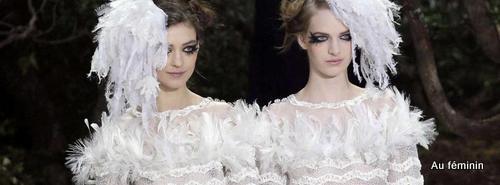 Karl Deux mariées Chanel Haute Couture Eté 2013