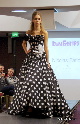 Nicolas Fafiotte Lyon Fashion City 2013 Robe à pois