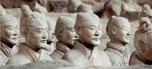 cravate soldat xian chine