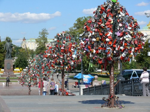 Lock and Love Philippe Tournaire arbres de Moscou