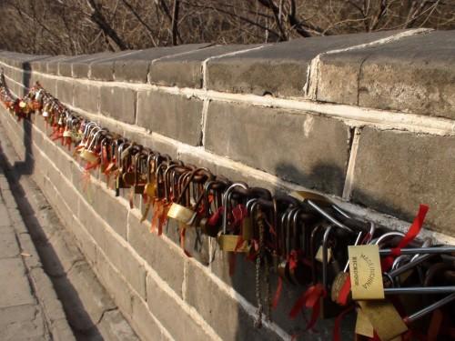 Lock and love Cadenas d'amoureux grande muraille de chine