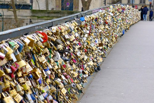 Philippe Tournaire Lock and Love Pont des Arts Cadenas d'amoureux