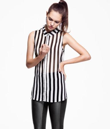 Rayure verticale H&M mode tendances été 2013