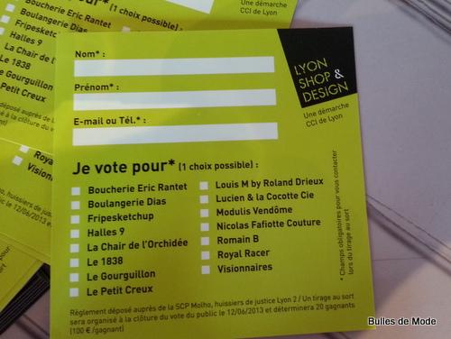 Lyon Shop & Design concours CCI Lyon Design