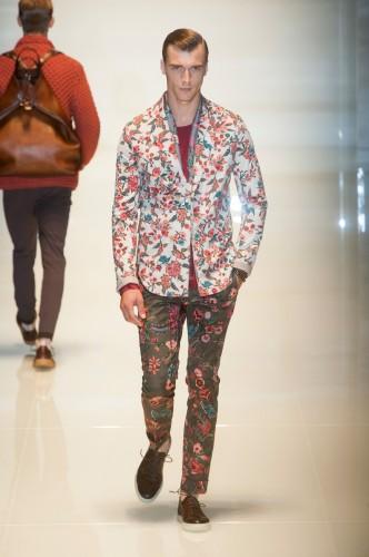 Mode Homme Tendances Costume fleuri été 2014 Gucci