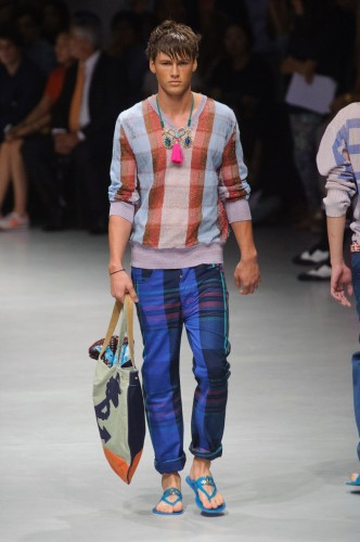 Tartan écossais revisité Vivienne Westwood Fashion Week Tendance Mode Homme Eté 2014
