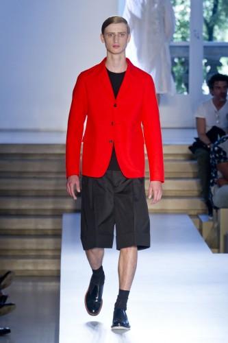 Tendances Mode Homme Fashion Week Eté 2014 Jil Sander Rouge