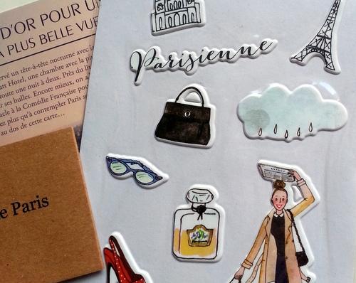 Autocollants Parisienne Kanako My Little Box Septembre 2013