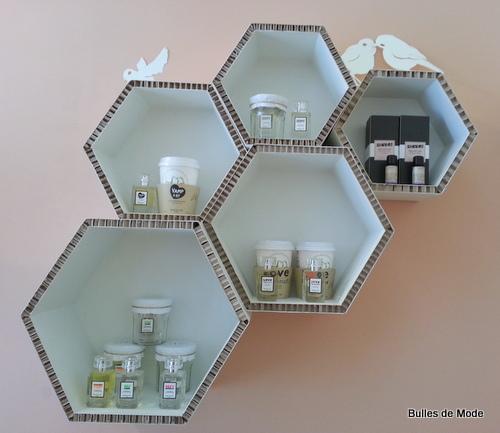 Meubles carton M&Oz Lyon Make Up Beauté Bio Concept-store shopping