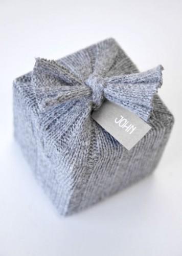 Idée emballage Cadeau Laine