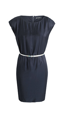 Robe Esprit bleu nuit ceinture iridescente