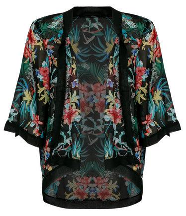 Kimono Mim Noir imprimé soldes tendances été 2014