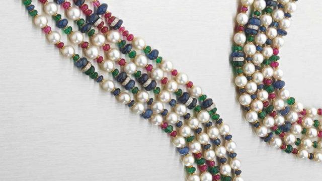 Perles et pierres précieuses Artcurial Monaco Hermitage 2014