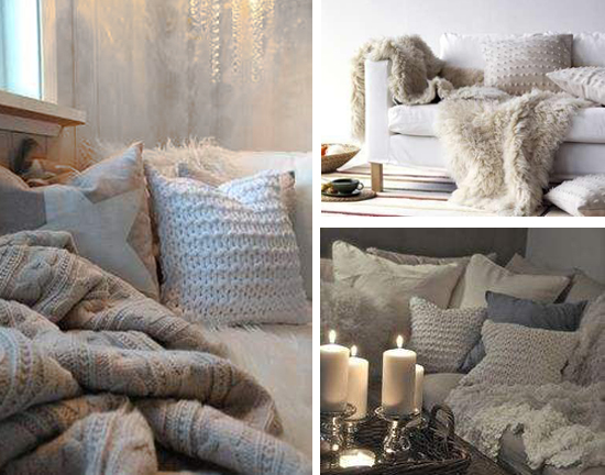 Ambiance Cosy Coussins Maille Douceur