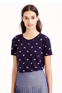 J Crew oiseaux T-Shirt