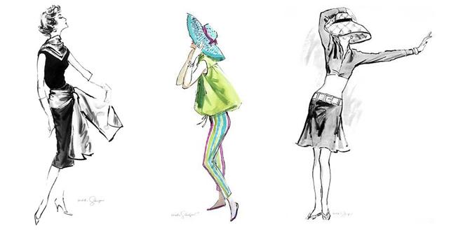 Hilda Glasgow New-York Illustrations de mode