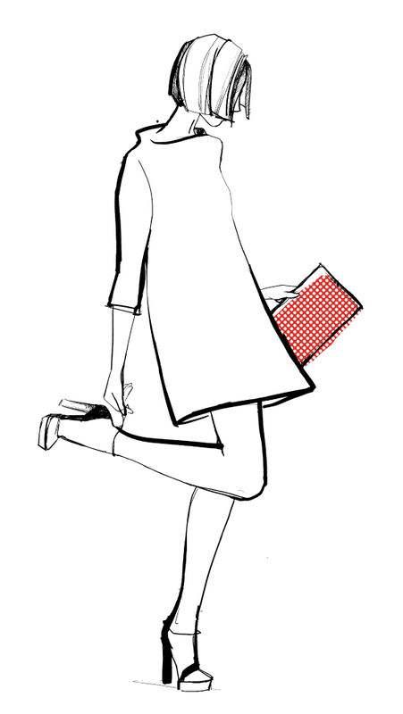 Line Art Fashion Design : Inspiration l élégance du crayon d hilda glasgow