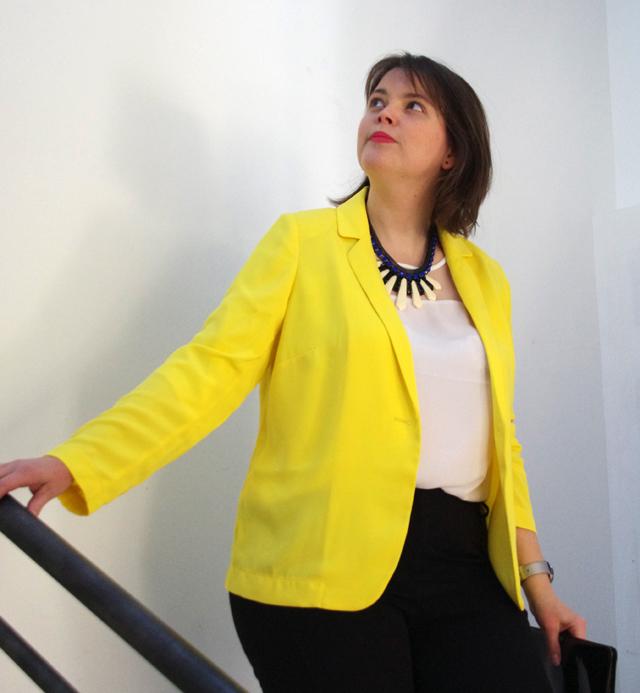 Look Mode Printemps 2015 Tendance Balsamik Veste jaune