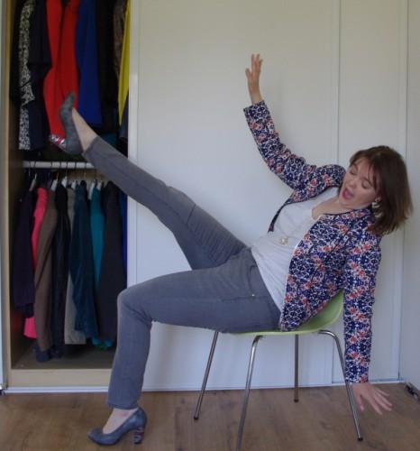 Blog Mode Lyon Look Veste imprimée jean gris