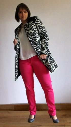 Balsamik manteau 3-4 tissé zèbre blog mode look city