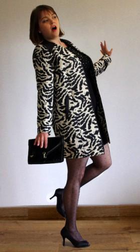Blog Mode Lyon Look Chic manteau tissé zèbre