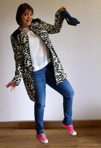 Blog Mode Lyon manteau zèbre