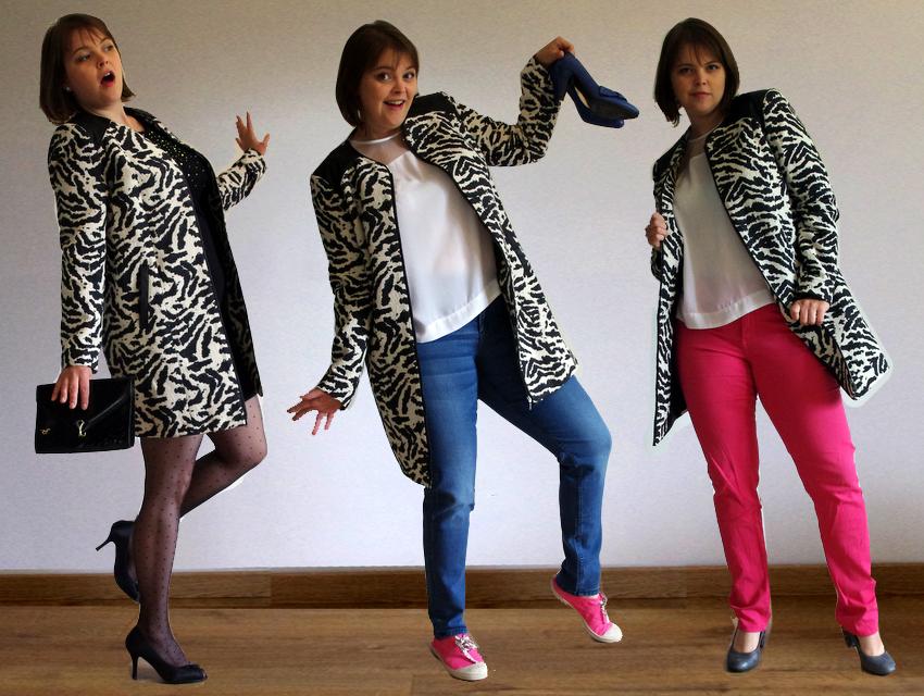 Un Manteau zèbre 3 possibilités