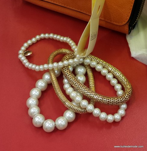 Bracelet perles et chaînes Bala Boosté Galeries Lafayette