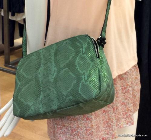 Mon petit python vert argenté Galeries Lafayette Bag