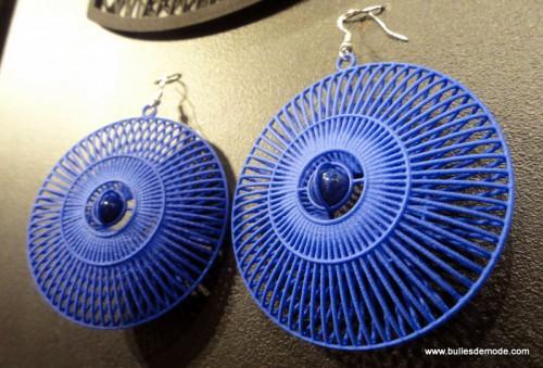 Boucles d'oreilles Anastra Impression 3D et perles