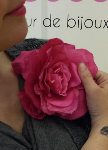 Broche fleur XXL