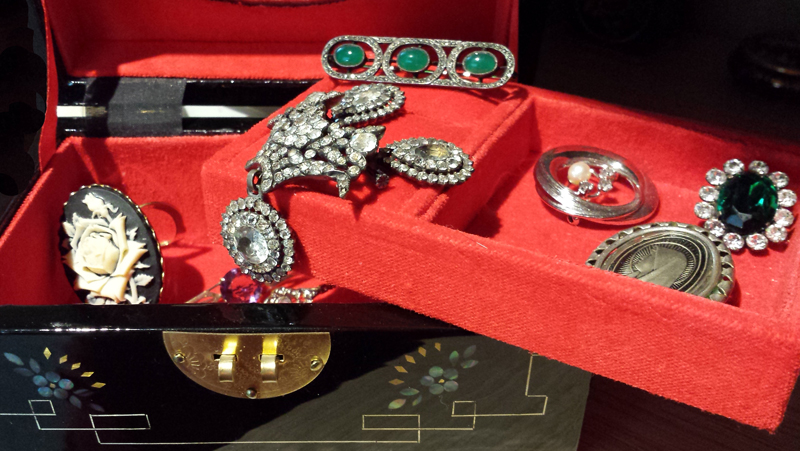 Broches vintage strass