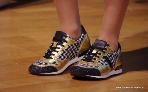 Baskets dorée tendance Mode Hiver 15-16