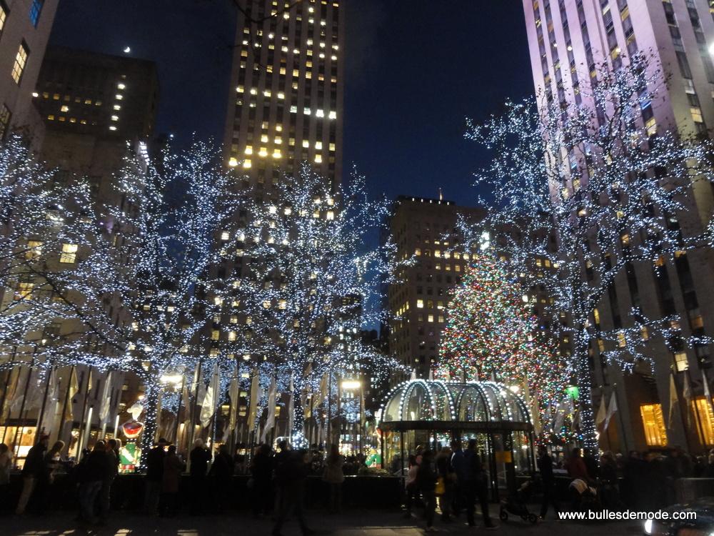 Visiter New-York à Noël - Rockfeller plaza déco